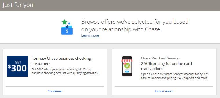 """Me """"Just for you"""" Chase Deals (Image courtesy of Chase)"""
