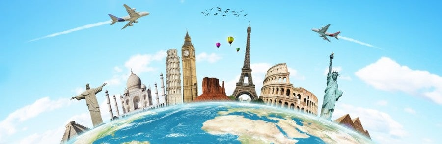 Travel globe monuments landmarks featured shutterstock 97739021