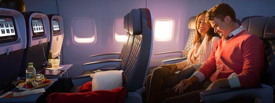 Delta Comfort+ seats
