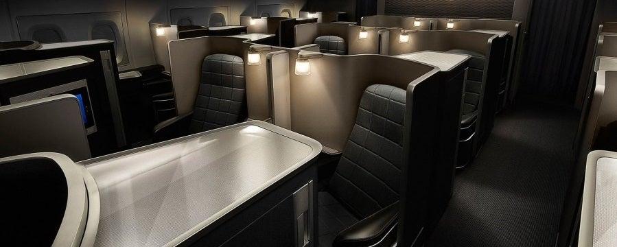 British Airways' first-class seat.